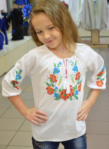 Детская вышиванка для девочки