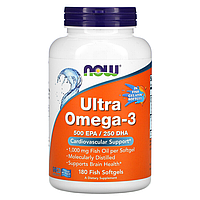 Ultra Omega-3 - 180 капсул - Now Foods