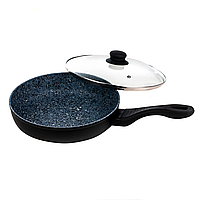 Антипригарная сковорода German Family 26*5.7 см с гранитным покрытием и крышкой