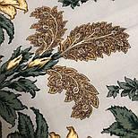 Пленительный июль 1730-1, павлопосадский платок шерстяной  с шелковой бахромой, фото 6