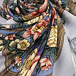 Пленительный июль 1730-1, павлопосадский платок шерстяной  с шелковой бахромой, фото 10