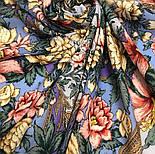 Пленительный июль 1730-1, павлопосадский платок шерстяной  с шелковой бахромой, фото 8