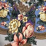 Пленительный июль 1730-1, павлопосадский платок шерстяной  с шелковой бахромой, фото 9