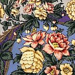 Пленительный июль 1730-1, павлопосадский платок шерстяной  с шелковой бахромой, фото 4