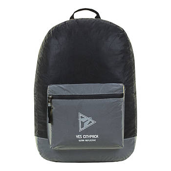 Рюкзак молодежный YES R-03 Ray Reflective Черный/серый (558594)