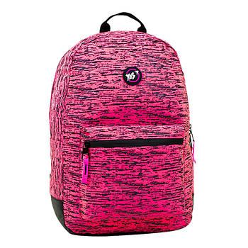 Рюкзак молодежный YES R-02  &quotAgent Reflective&quot розовый