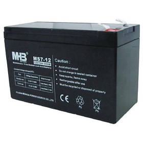 MHB battery Акумулятор AGM 12В 7а / год., не герметичний, модель MS7-12, MHB battery