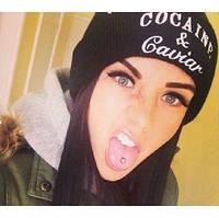 Стильная молодежная шапка Cocaine