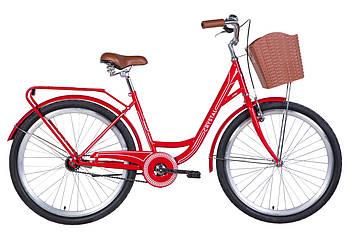 """Велосипед 26"""" Dorozhnik CRYSTAL 2021 (красно-белый)"""