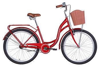 """Велосипед 26"""" Dorozhnik AQUAMARINE 2021 (бордовый)"""