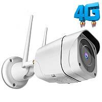 4G камера видеонаблюдения уличная с поддержкой 3G Unitoptek NC919G, 5 Мегапикселей, под SIM карту
