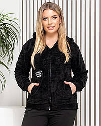 Женская куртка-бомбер мех демисезонная 42-60
