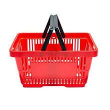 Корзинка для супермаркета 22 л. красная идр.