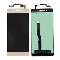 Дисплей (екран) для Lenovo K8 Note + тачскрін, золотий