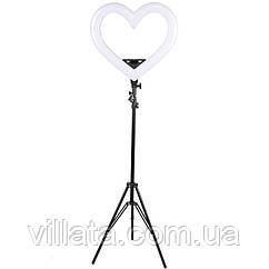 Кольцевая лампа Black Heart, d-18, 48 см