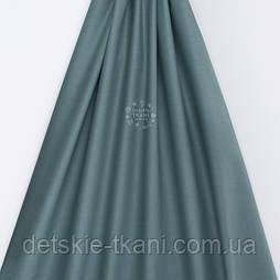 Поплін однотонний, колір - темний евкаліпт (№3303)
