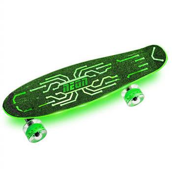Скейтборд Neon Hype Зелений