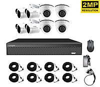 Система видеонаблюдения для дома на 8 камер Longse XVR2008D4M4P200 kit, 2 Мп, HD1080P