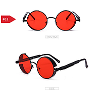 Красные очки круглые стимпанк