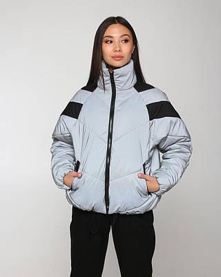 Женская рефлективная курточка на холодную весну, очень стильная женская курточка