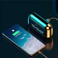 Беспроводные Bluetooth наушники F9. Индикатор заряда