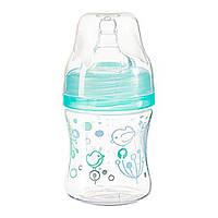 Бутылка антиколиковая с широким отверстием бирюзовая BabyOno 120 мл (5901435411001)