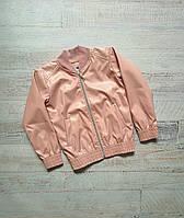 """Куртка-бомбер на блискавці еко шкіра на дівчинку 122-152 см (3ол)""""LiMA Sport""""купити оптом в Одесі на 7 км"""