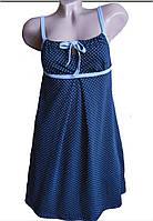Ночная рубашка для родов и кормления на бретельках