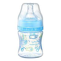 Бутылка антиколиковая с широким отверстием голубая BabyOno 120 мл (5901435411025)