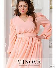 Платье женское Большой размер №818-персик| 48-50|52-54|56-58, фото 3