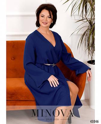 Платье женское батал№7075-1-электрик  50-52 54-56 58-60 62-64, фото 2