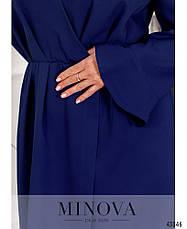 Платье женское батал№7075-1-электрик  50-52 54-56 58-60 62-64, фото 3