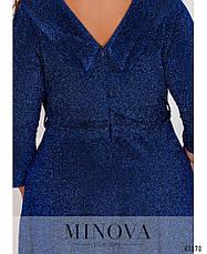 Платье женское батал№19-042-электрик| 50|52|54, фото 3