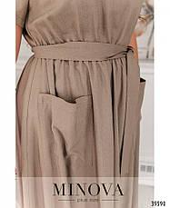 Платье женское батал №4164-1-какао| 52-54|64-66, фото 3