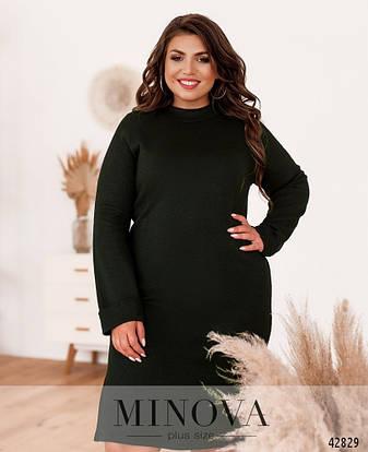Платье женское батал№924-хаки| 46-48|50-52|54-56|58-60|62-64, фото 2