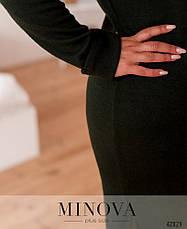 Платье женское батал№924-хаки| 46-48|50-52|54-56|58-60|62-64, фото 3