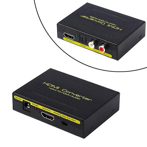 Экстрактор аудио, преобразователь HDMI, SPDIF, Toslink, RCA, тюльпан