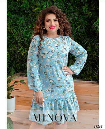 Платье женское батал №18072-1-блакитний| 48|50|52|54, фото 2