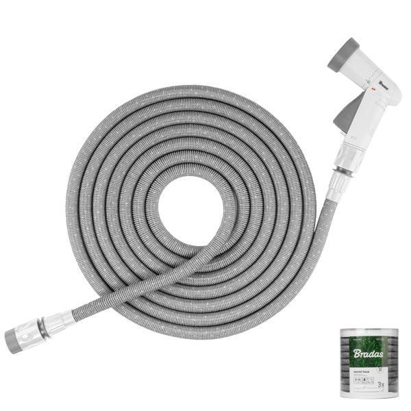 Растягивающийся шланг, SECRET HOSE 10м-30м, серый,  комплект, WSCH1030GY