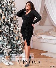 Платье женское батал №7063-1-чорний| 50-52|54-56, фото 2