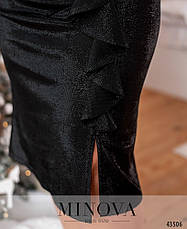 Платье женское батал №7063-1-чорний| 50-52|54-56, фото 3