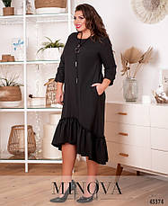 Платье женское батал №20-25-чорний  50-52 52-54, фото 2