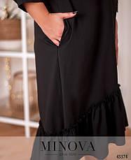 Платье женское батал №20-25-чорний  50-52 52-54, фото 3