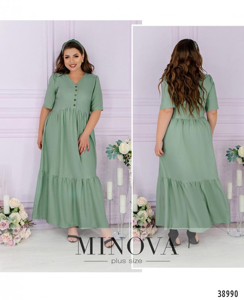 Платье женское батал №164-1-оливковий| 50-52|54-56|58-60|62-64