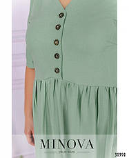 Платье женское батал №164-1-оливковий| 50-52|54-56|58-60|62-64, фото 3