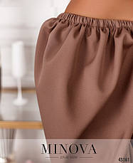 Платье женское батал №7047-1-какао| 50-52, фото 3