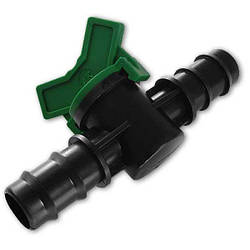 Кран 2-x штекерный для трубки 25мм, DSWZ08-2525L