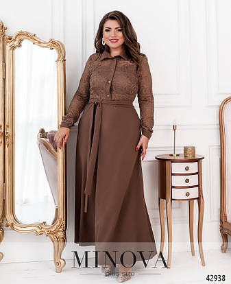 Платье женское батал №8628-моко  50 52 54 56 58 60 62 64, фото 2