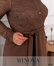 Платье женское батал №8628-моко  50 52 54 56 58 60 62 64, фото 3