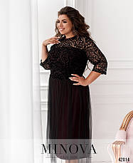 Платье женское батал №799Б-марсала| 56-58, фото 2